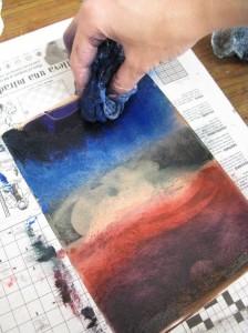 penetrar tinta tarlatana